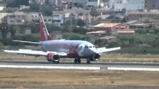 Jet2 Boeing 737-330 landet am PMI Palma de Mallorca Flughafen