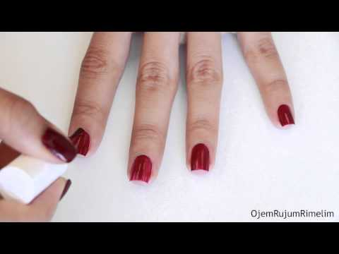 Oje Nasıl Sürülür ? | How To Apply Nail Polish Perfectly ?
