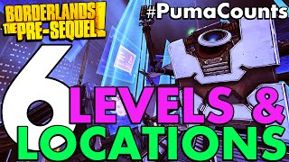 Top 6 Most Interesting Levels and Locations in Borderlands: The Pre-Sequel! #PumaCounts