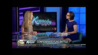 Ann Coulter debates Fox Idiot on: The Confederate flag & LEGAL Imigration