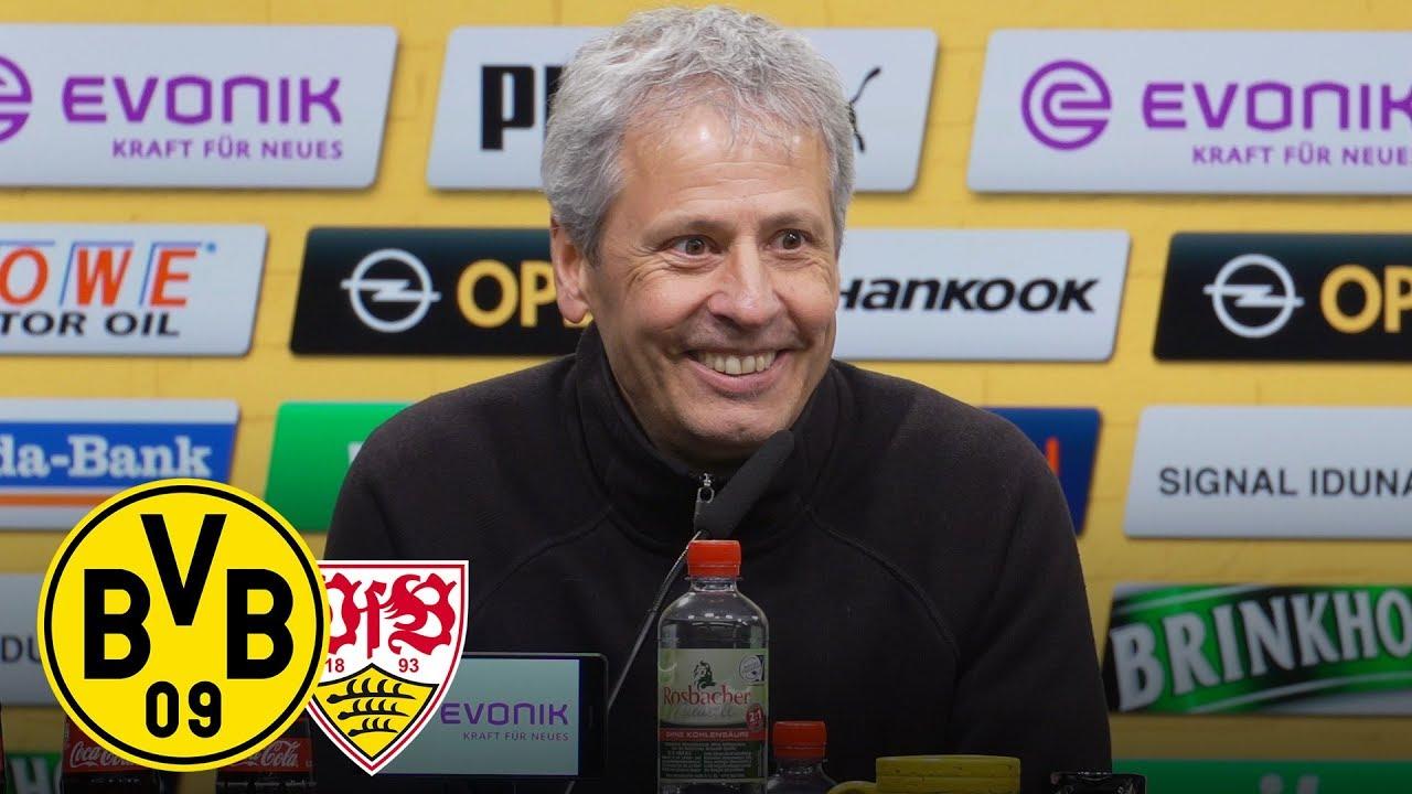 Wichtiger Sieg! | PK mit Lucien Favre | BVB - VfB Stuttgart 3:1