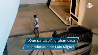 Filman por dentro la mansión abandonada que fue de Luis Miguel