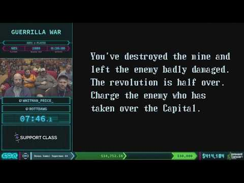 Guerilla War by whiteman_price and RottDawg in 14:29 - AGDQ 2018 - Part 72