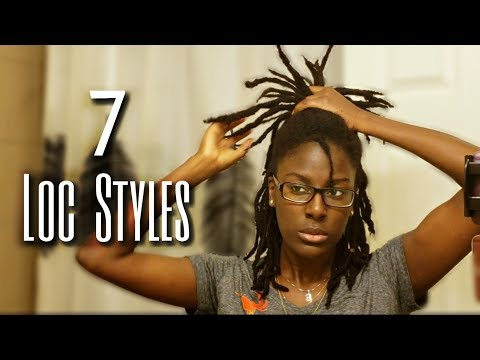 7-loc-styles-for-medium-length-locs-|-no-retwist-|-onyx-goddess