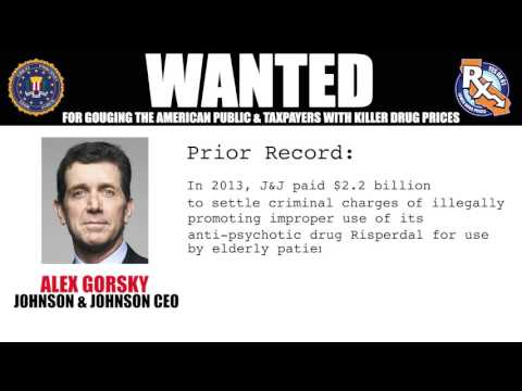 WANTED: Alex Gorsky, Johnson & Johnson CEO