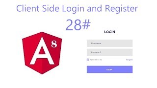 Video 28   Create Angular auth module and login, register and reset password component