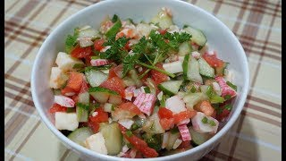 Салат без майонеза с сыром