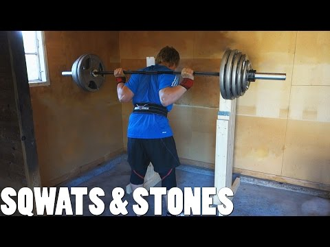 Squats in the Homemade Squat Stand & Strongman Cardio