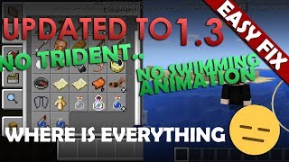 How to get MISSING 1.4 / 1.5 BETA FEATURES! (No Trident & No Drowned ect FIX!) - Minecraft PE