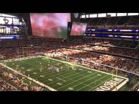 Time lapse of Alabama win over Wisconsin in Cowboys Stadium