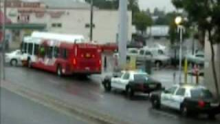 Bus Crashes into Car In National City ,Ca.