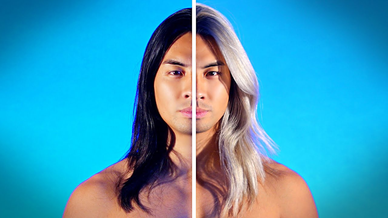 dramatic men's hair color transformations