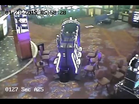 Casino ATM Theft CCTV Footage