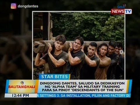 "BT: Dingdong Dantes, saludo sa dedikasyon ng ""Alpha Team"" sa military... - 동영상"