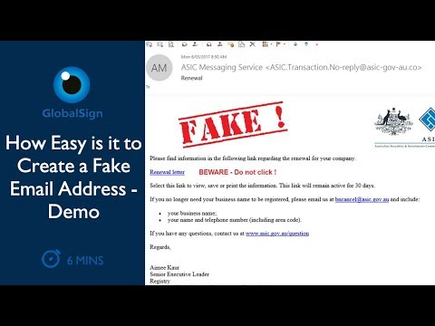 How Easy It Is to Create a Fake Email Address | Demo