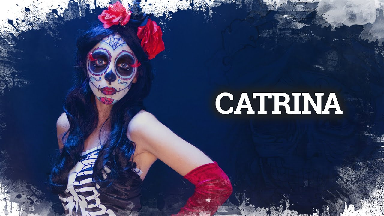 easy halloween makeup catrina el da de los muertos face paint costume youtube - Halloween Dia
