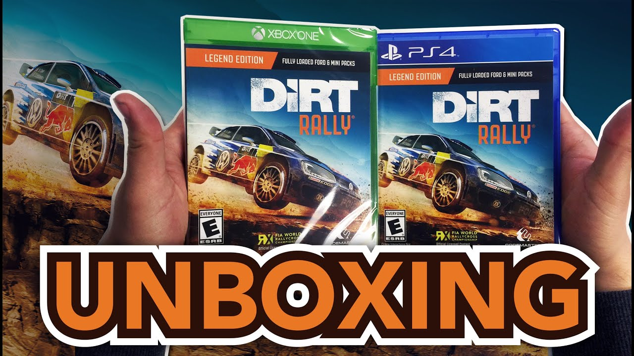 dirt rally legend edition ps4 xbox one unboxing. Black Bedroom Furniture Sets. Home Design Ideas