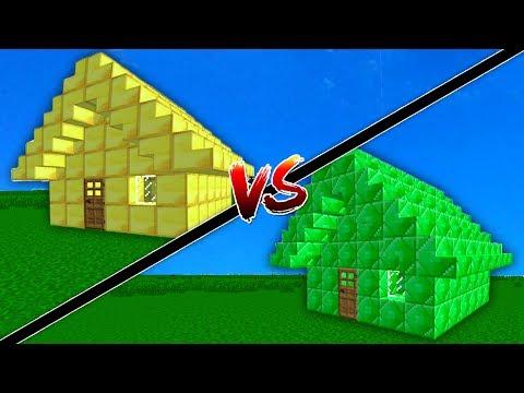ZÜMRÜT EV VS ALTIN EV (Minecraft)
