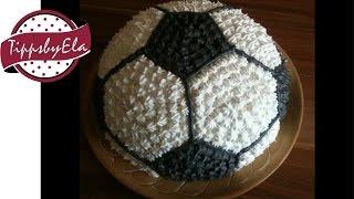 Fußballtorte Torte Anleitung deutsch how to make a football cake german w english subtitle