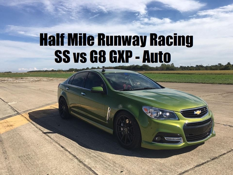 chevy ss vs pontiac g8 gxp half mile 40 roll youtube. Black Bedroom Furniture Sets. Home Design Ideas