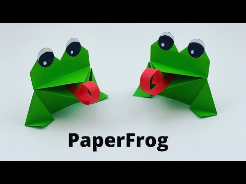How To Make Moving Paper Frog Toy For Kids / Nursery Craft Ideas / Paper Craft Easy / KIDS  crafts
