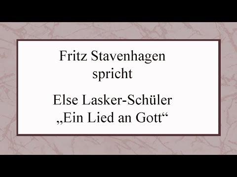 """Else Lasker-Schüler """"Ein Lied an Gott"""""""