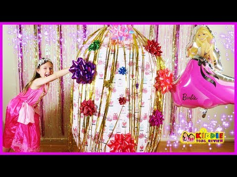 Barbie Giant Surprise Egg with Barbie Toy Hunt Toys from the Kids Store Family Fun Trip