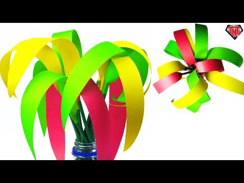 How To Make Origami Plant With Paper || DIY Paper Grass For Home Decoration | Paper Spider Plant