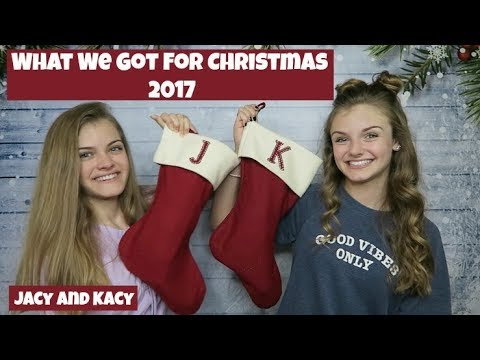What We Got for Christmas 2017 ~ Jacy and Kacy
