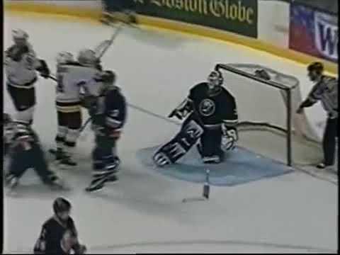 Sergei Samsonov grabs an assist on Glen Murray goal vs Islanders (2002)