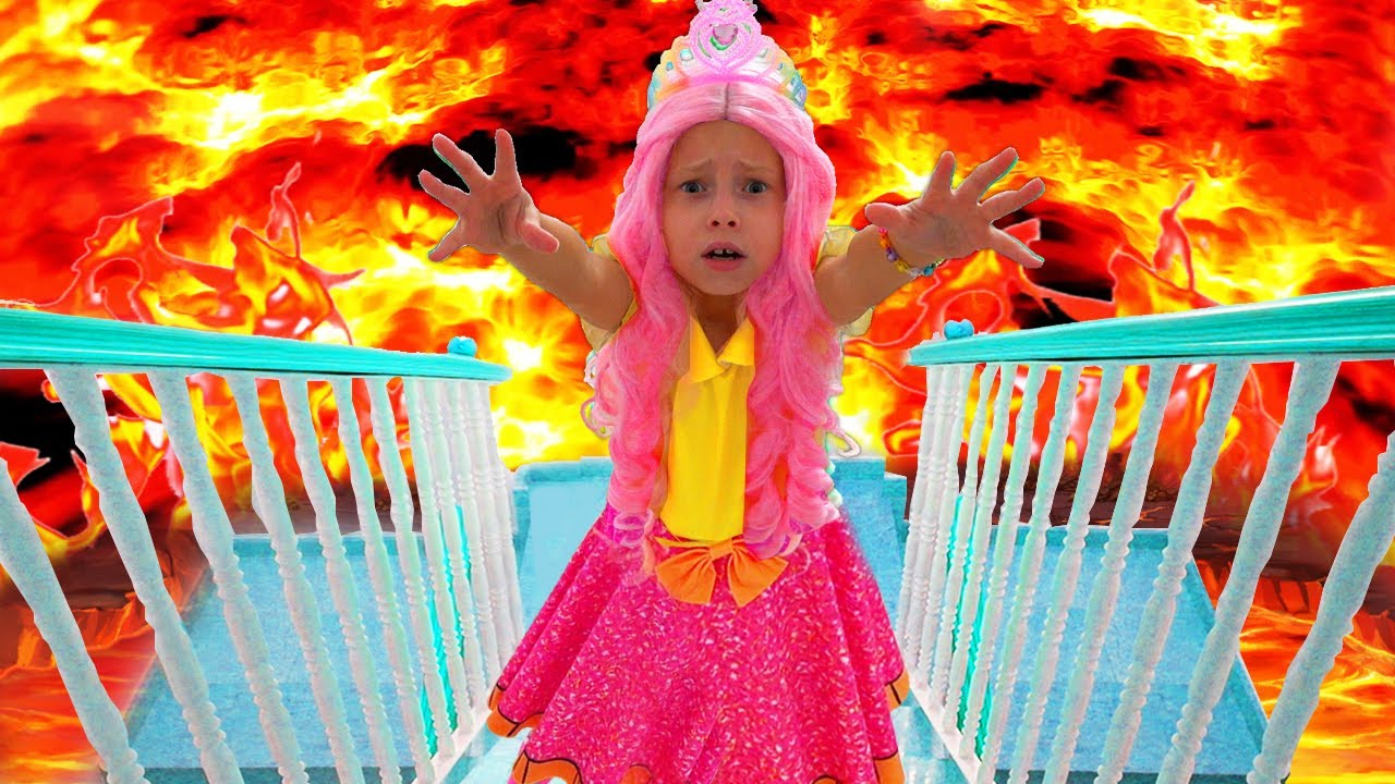 The Floor is Lava and more kids videos with Alice and Grandma