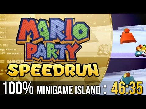 Mario Party Mini-Game Island 100% Speedrun in 46:35