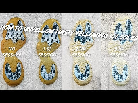 How To Unyellow Nasty Yellowing Icy Soles EASY !!!