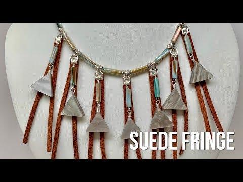 Suede Fringe Simple Stringing Necklace Tutorial