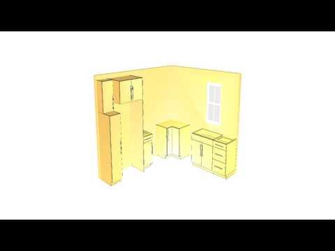 Barker Modern simple kitchen cabinet layout tutorial