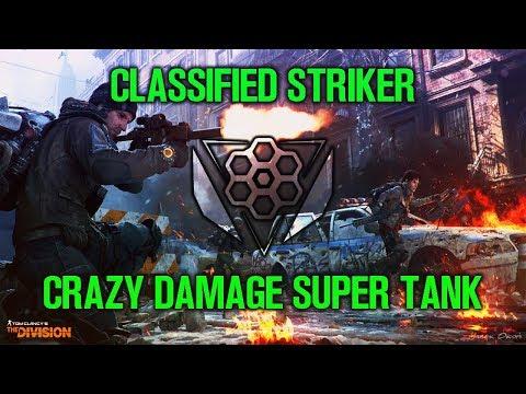 CLASSIFIED STRIKER BUILD - SUPER TANK DAMAGE DEALER (The Division) 1.8 Dark Zone PvP Gameplay