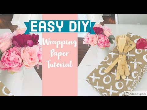 Easy DIY Wrapping Paper Tutorial