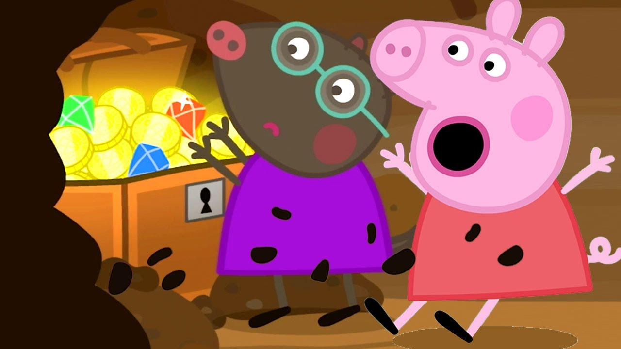 Peppa Pig Official Channel | Peppa Pig Finds the Buried Treasure with Molly Mole