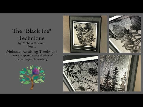 "Unique ""Black Ice"" Paper Crafting Technique Debut - A Club Project"