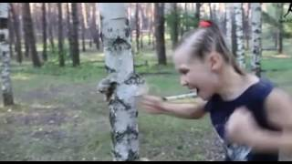 Watch girl rip through trees and walls with her bare hands