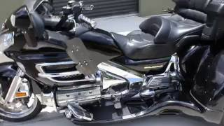 2001 HONDA GOLDWING 1800 WITH CALIFORNIA SIDECAR TRIKE KIT HAS E-Z STEAR WALK AROUND  AT RIDE PRO