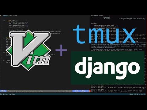 Vim and tmux for Django Development