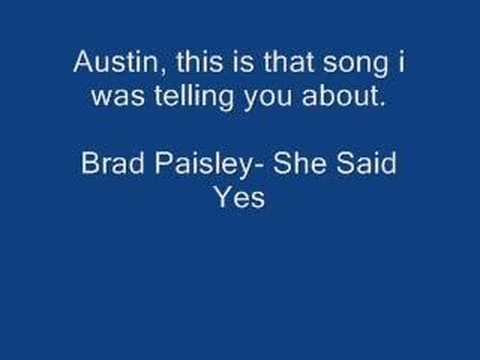 Chad Brock- She Said Yes