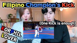 When Koreans Saw the Filipino Taekwondo Champion|Korean Reaction