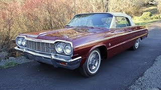 1964 Chevrolet Impala SS Convertible 409 For Sale. Charvet Classic Cars.