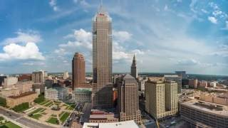 Cleveland Ohio Downtown Hilton view from back rooms of Hotel (First Look Opening Day) June 1, 2016