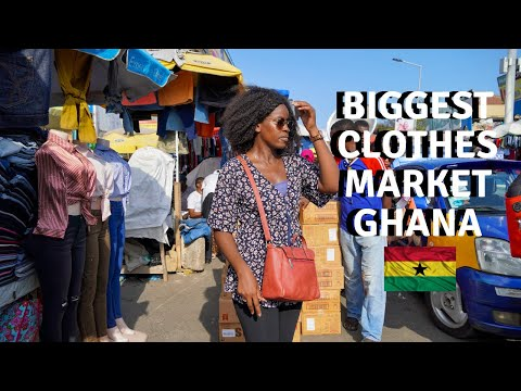 SHOP WITH ME IN THE BIGGEST CLOTHES MARKET IN ACCRA - GHANA | SHOPPING FOR CLOTHES LIKE GHANAIANS DO