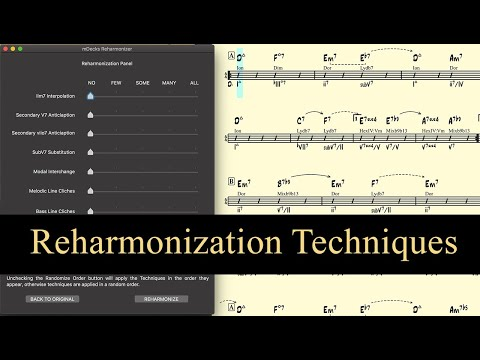 Reharmonization Techniques using Mapping Tonal Harmony Pro