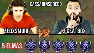 EN ZOR CHALLENGE! ZEDXSMURF / KFCEATBOX ve KASSADINSCREED vs 5 DIAMOND!  LOL PİT