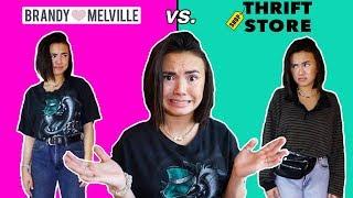 $100 challenge: Brandy Melville vs. Thrifted